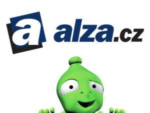 Alza slevy hlásá zelená postavička