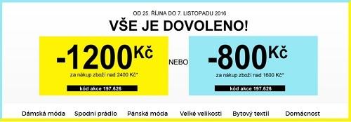 Sleva 800 nebo 1200 Kč na Blancheporte.cz