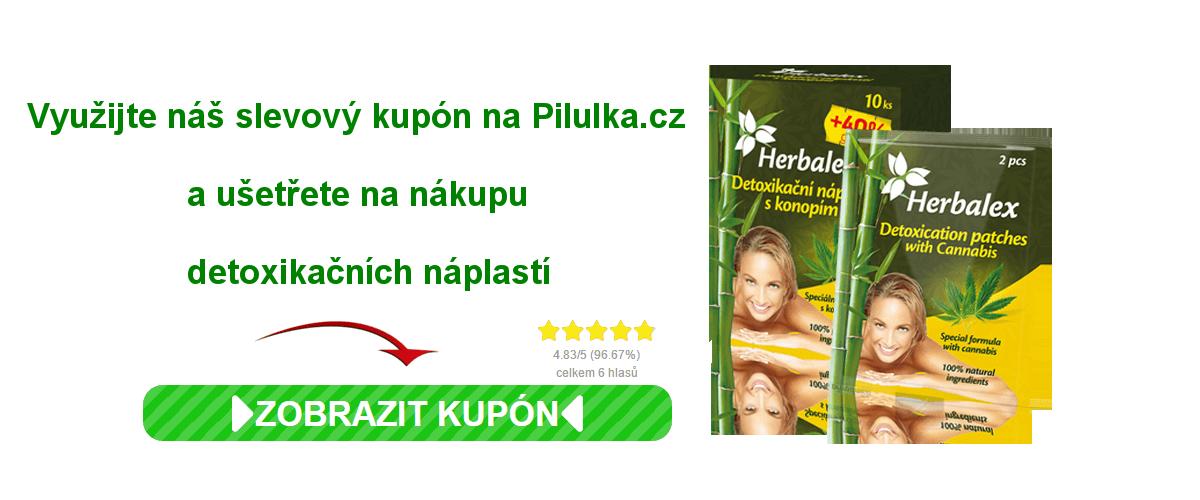 Sleva na náplasti do lékárny Pilulka.cz