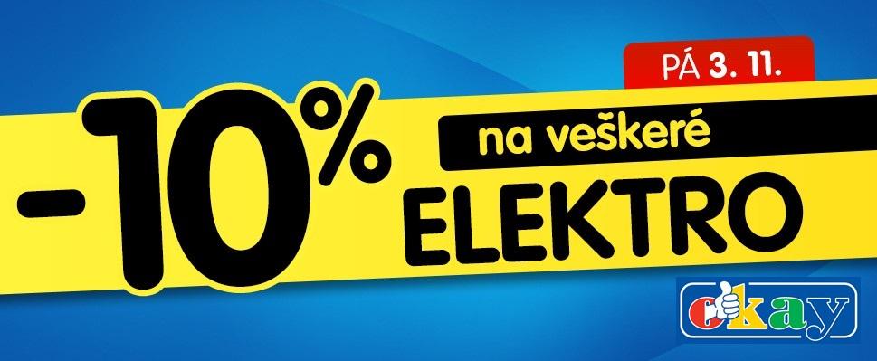 10 procent sleva na elektro Okay