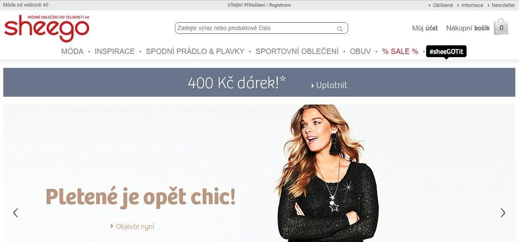 Náhled e-shopu Sheego.cz
