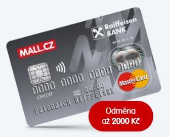 Kreditní karta se slevou na mall.cz