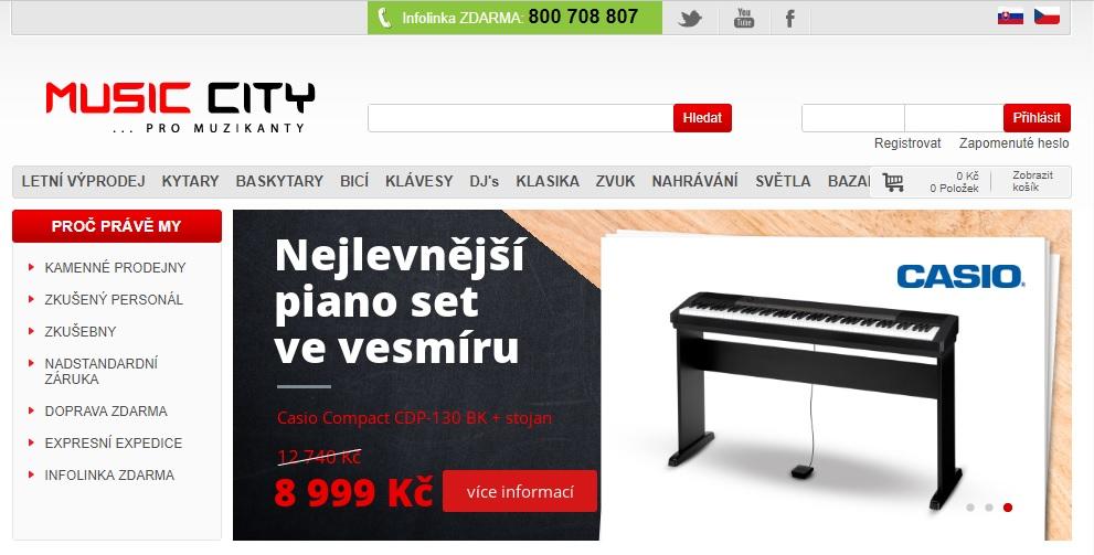 Music City nabídka e-shopu